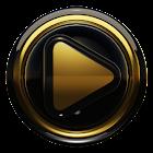 Poweramp skin Ouro preto icon