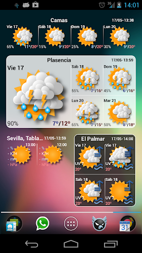 EZ Clock & Weather Widget For Android | AppsApk
