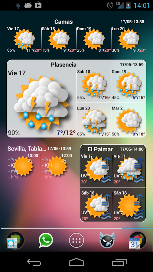 Widgets METEO - screenshot