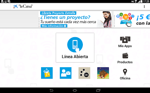 """la Caixa"" Tablet - screenshot thumbnail"