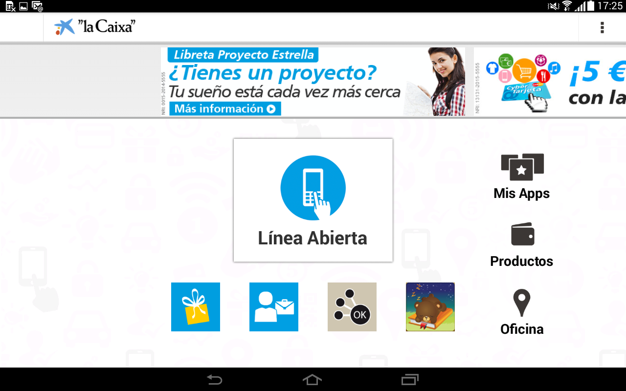 """la Caixa"" Tablet- screenshot"