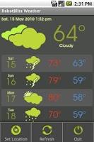 Screenshot of RobotBliss Weather