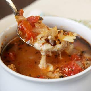 Lasagna Soup.