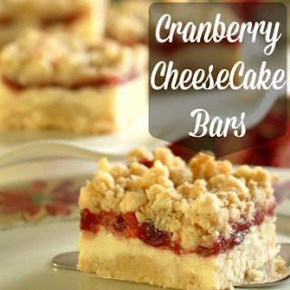 Cranberry Cheesecake Bars