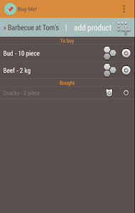 Buy Me - Simple Shopping List screenshot 3