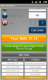 BMI Calculator - Weight Loss- screenshot thumbnail