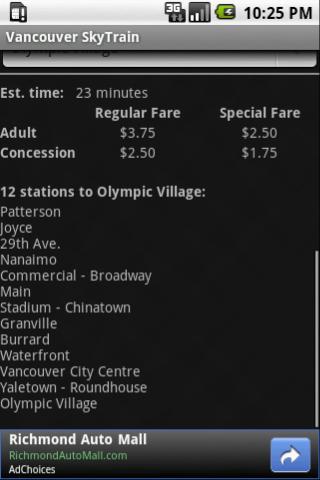 Vancouver SkyTrain- screenshot