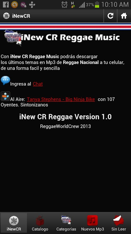 iNew CR Reggae Music - screenshot
