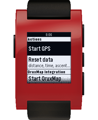 JayPS for Pebble - Bike GPS – Screenshot