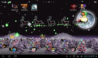 Screenshot of Christmas Live Wallpaper Santa
