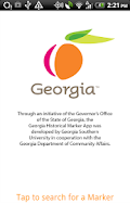 Screenshot of Georgia Historical Markers