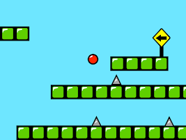 Screenshot of Red Bouncing Ball Spikes