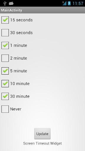 Screen Timeout Widget