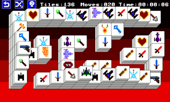 Screenshot of 8 Bit Mahjong Free