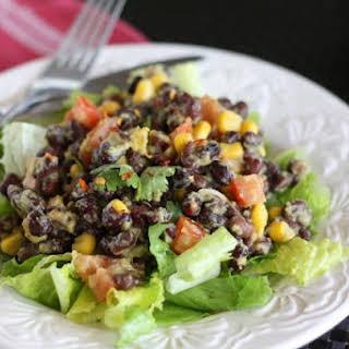 Spicy Black Bean Guacamole Salad.