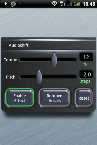 Audioshift Tempo+Pitch Control - screenshot
