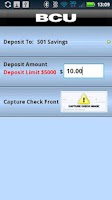 Screenshot of BCU Mobile Banking