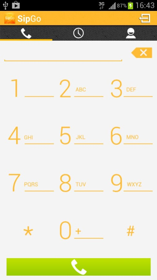 SipGo Sip dialer Low bandwidth - screenshot