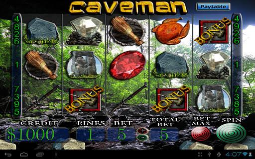 Slot machine caveman