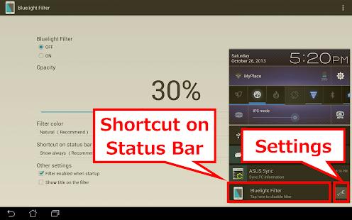 Bluelight Filter License Key - screenshot thumbnail
