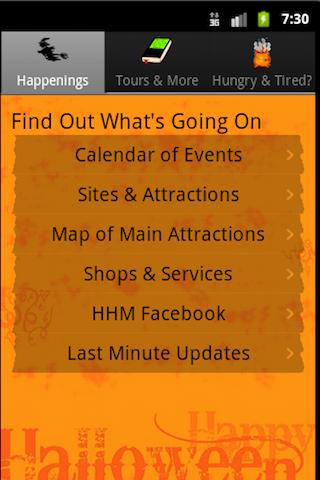 Haunted Happenings Magazine - screenshot