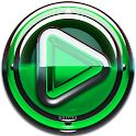 Poweramp skin Green Glas delux icon