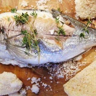 Salt-Baked Fish Stuffed with Herbs and Lemon.
