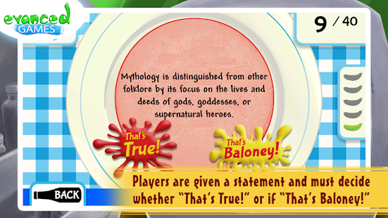 That's Baloney! Kids Quiz Game - screenshot thumbnail