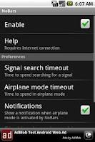 Screenshot of NoBars Battery Saver
