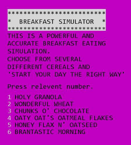 Advanced Breakfast Simulator