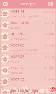 GO SMS/GOLauncher Flower theme- screenshot thumbnail