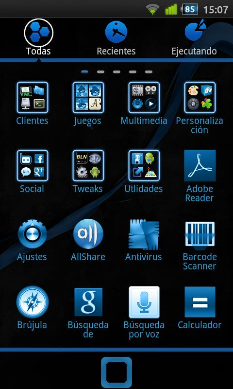 black and blue android - photo #29