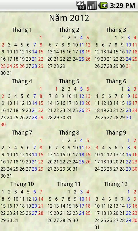 Android Calendar Việt - screenshot