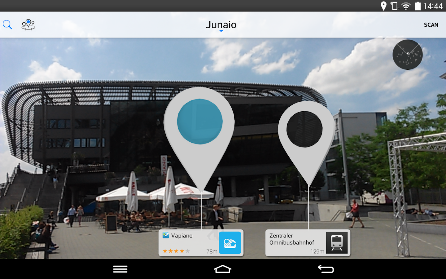 Junaio Augmented Reality - screenshot