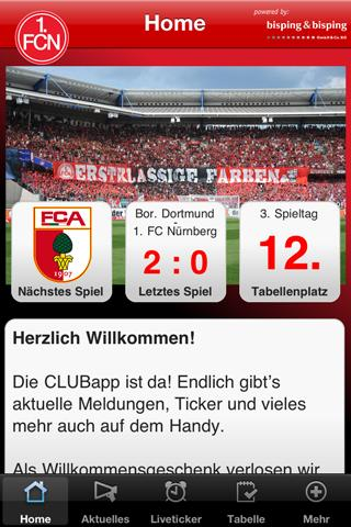 CLUBapp - screenshot