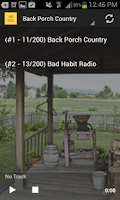 Screenshot of Country Music Radio Stations