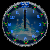 Christmas Glitter 2 Clock