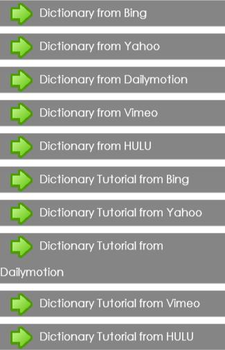 Dictionary Tutorial Guide