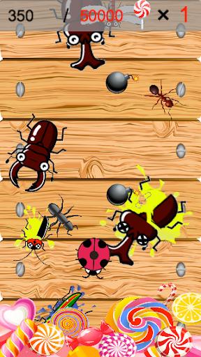 虫潰し(シンプルで簡単&ハマる・暇つぶしゲーム)
