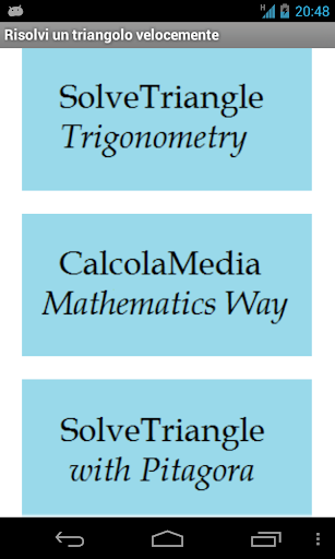 SolveTriangle and MathSolver