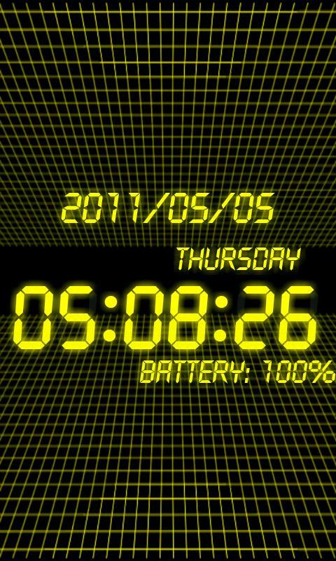 battery clock Pro- screenshot