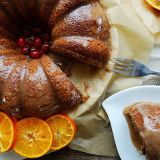 Cranberry Citrus Bundt ~ Cinnamon Glaze.
