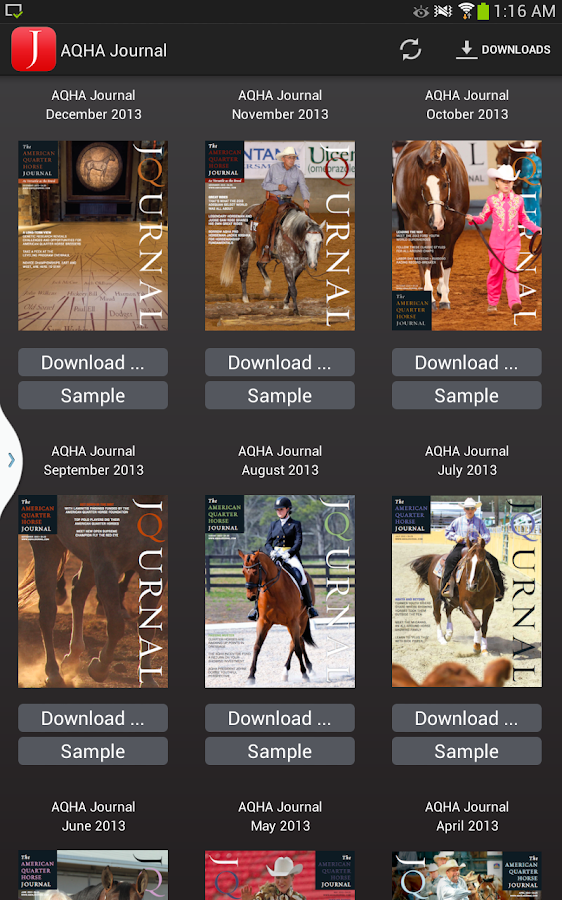 American Quarter Horse Journal- screenshot
