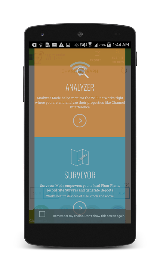 WiFi Analyzer and Surveyor- screenshot