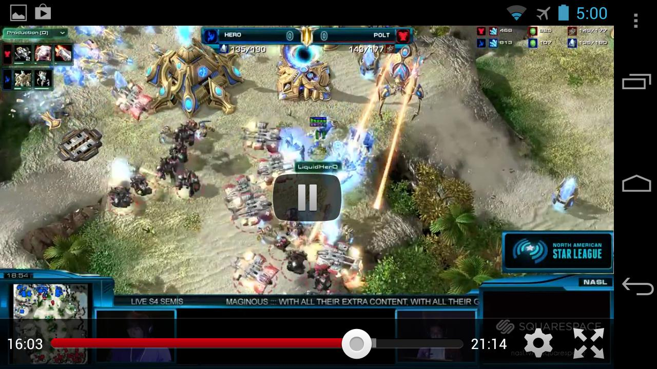 SC2Casts Pro Starcraft 2 VODs - screenshot