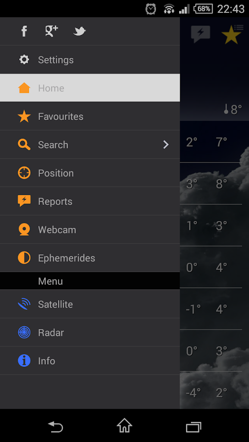the Weather+- screenshot