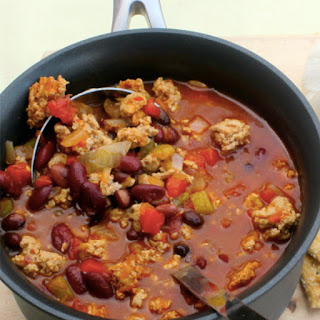Slow Cooker - Spicy Three Bean Turkey Chili