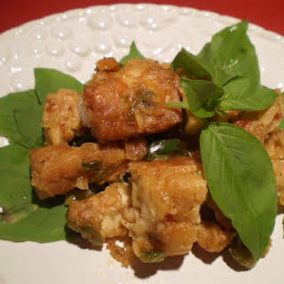 Tempeh Sambal with Basil.