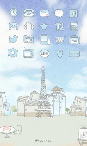 Paris free travel icon theme
