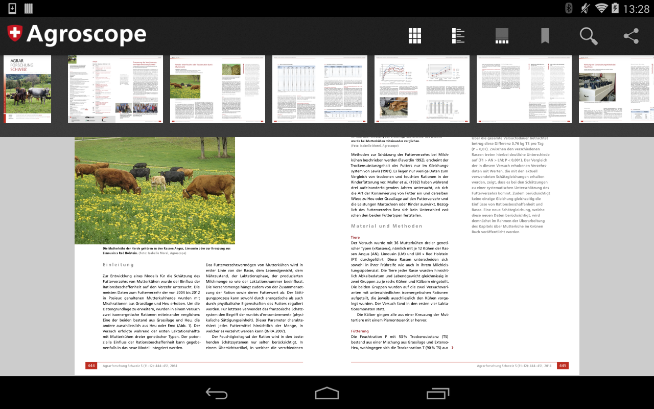 Publikationen Agroscope- screenshot